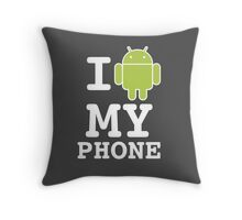 I LOVE Android Design! Throw Pillow
