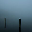 Fog at the Dock by Eileen McVey