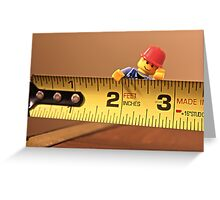 Measure twice, cut once Greeting Card