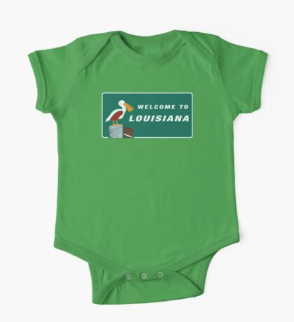 Welcome to Louisiana Road Sign One Piece - Short Sleeve