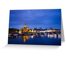 Maastricht, Sint-Martinuskerk And Maas River Greeting Card