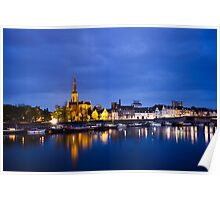 Maastricht, Sint-Martinuskerk And Maas River Poster