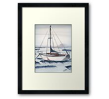 Sailboat Red Framed Print