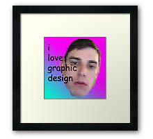I love Graphic Design! Framed Print