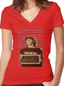 Shady Jail Women's Fitted V-Neck T-Shirt