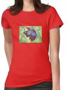 Fire and Ice Wings Womens Fitted T-Shirt
