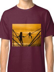 Boy and girl jump Classic T-Shirt