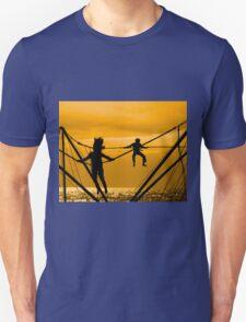 Boy and girl jump Unisex T-Shirt