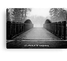 caution. Canvas Print
