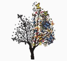 Butterfly Tree by Miraart