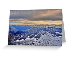 Mountain Alps Greeting Card
