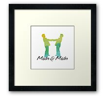 Mister and Mister, Customizable watercolor favor Wedding celebration Framed Print