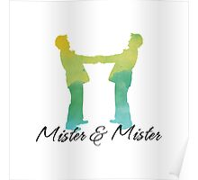 Mister and Mister, Customizable watercolor favor Wedding celebration Poster