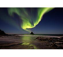 Northern lights over Bleik island Photographic Print