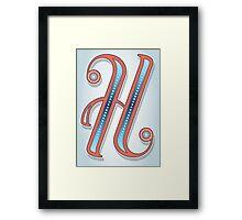Letter H Framed Print