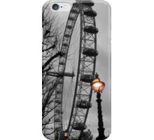 London Eye and street lamps iPhone Case/Skin