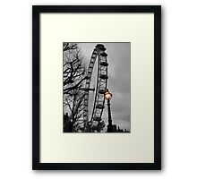 London Eye and street lamps Framed Print