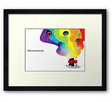 Think Out Of The Box. Framed Print