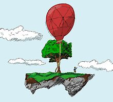 Floating Rock balloon by pda1986