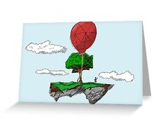 Floating Rock balloon Greeting Card