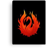 Swan on Fire (Color) Canvas Print