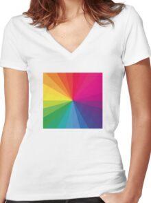 Jamie xx 'In Colour' Pantone Color Spectrum  Women's Fitted V-Neck T-Shirt
