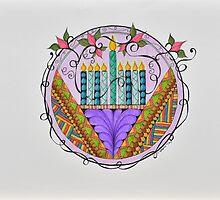 Hanukkah Lights by EllenGambrell