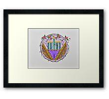 Hanukkah Lights Framed Print