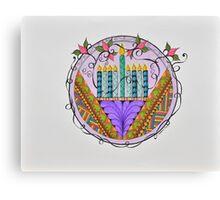 Hanukkah Lights Canvas Print