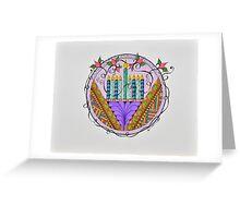 Hanukkah Menorah/3 - Feathers/3 Greeting Card