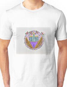 Hanukkah Menorah/3 - Feathers/3 Unisex T-Shirt