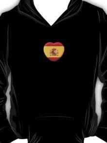 3D Heart Spanish Flag T-Shirt