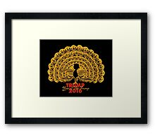 Year of The Trump. Framed Print