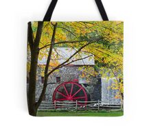 Sudbury Grist Mill in the Fall Tote Bag