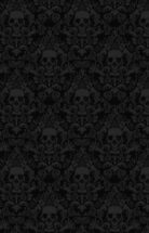 Skull Damask Wallpaper by jimiyo
