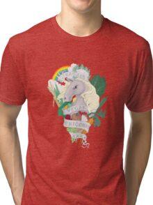 Bad*ss Vegan Unicorn Tri-blend T-Shirt