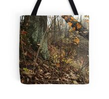 A Sloping Forest Scene Tote Bag