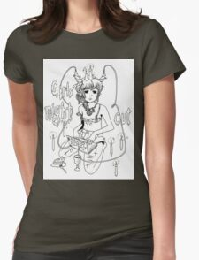 sua yoo art (Death Grips) Womens Fitted T-Shirt