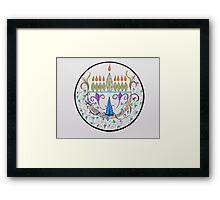 Hanukkah Menorah/1 Framed Print