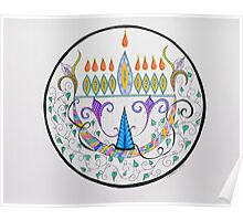 Hanukkah Menorah/1 Poster