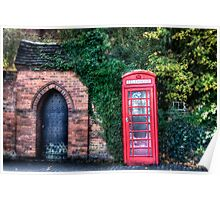 The Great British Telephone Box Poster