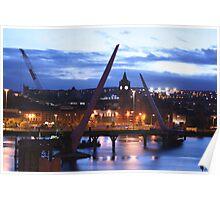 Peace Bridge under construction, Derry Poster