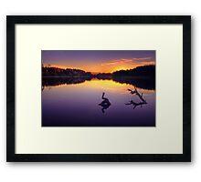 Harlaw loch Framed Print