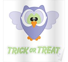 Sweet Owl Trick or Treat Poster