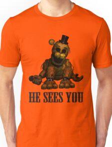 Golden freddy He Sees You - FNAF Unisex T-Shirt