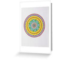 Mandala/16 - Yellow Feathers Greeting Card