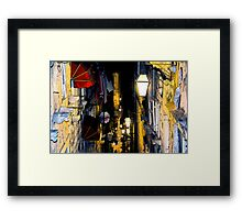 The Essence of Croatia - Night Lights And Shadows of Dubrovnik Framed Print