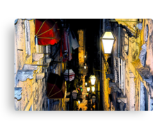 The Essence of Croatia - Night Lights And Shadows of Dubrovnik Canvas Print