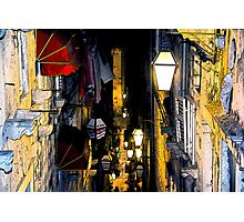 The Essence of Croatia - Night Lights And Shadows of Dubrovnik Photographic Print
