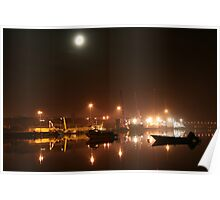 Lisahally Port by Moonlight Poster